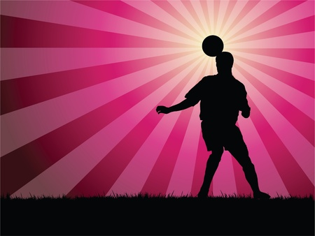 body silhouette: soccer player