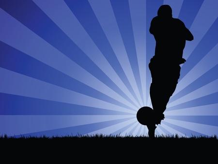 soccer player Stock Vector - 10231706