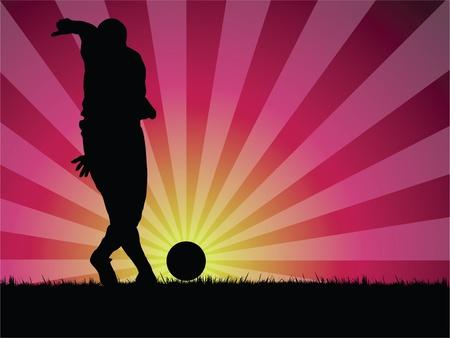 soccer player Stock Vector - 10231721