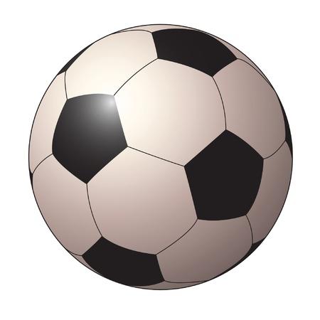kicking ball: isolated soccer ball