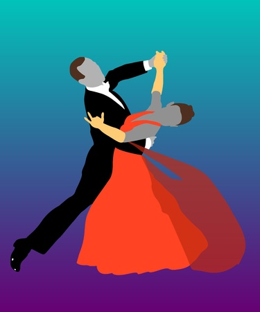 couple ballroom dancing