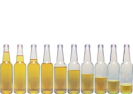dewed: beer botlles Stock Photo