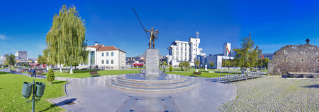 Alexander the Great Monument in Prilep, Macedonia - Panorama