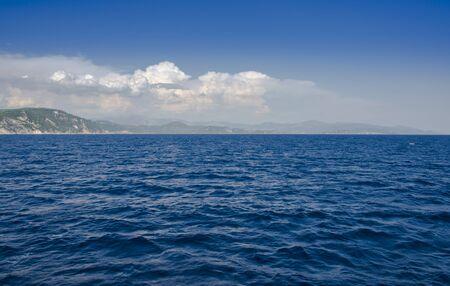Ionian Sea near Parga, Preveza, Epirus, Greece Stock Photo
