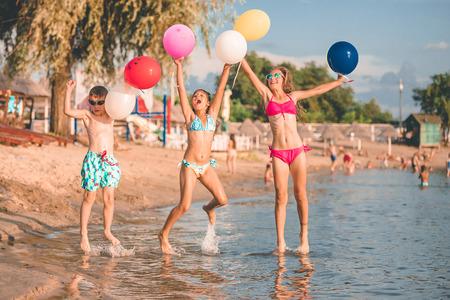 Kinder nackt am fkk strand