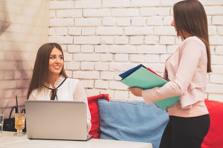 Human resources manager conducting job interview  with applicant for employment. Job interview