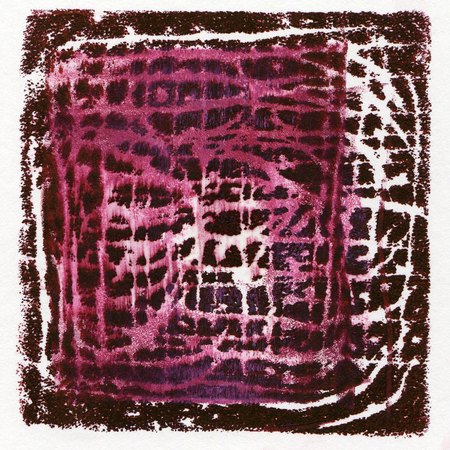 printmaking: Abstract acrylic background originally produced as a monoprint on paper texture Stock Photo