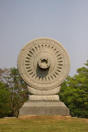 dhamma: dhamma chakra at Buddhist province in Thailand