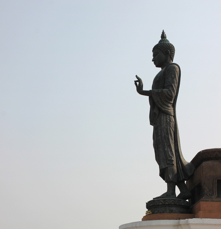 dhamma: big buddha statue at buddha province in Thailand