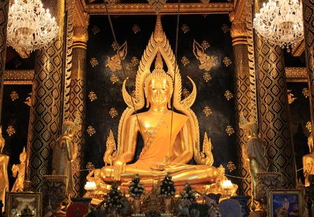 dhamma: Golden buddha statue in thailand