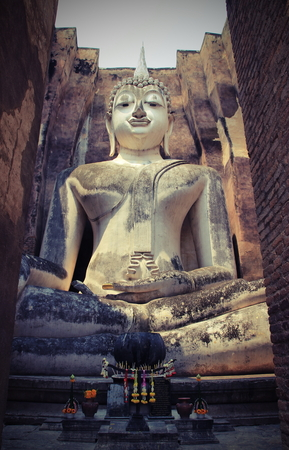 dhamma: big buddhist statue in the old church