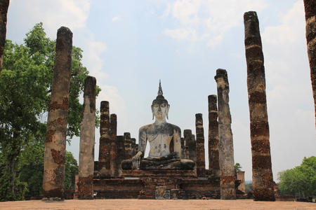 dhamma: Big buddhist statue in the old temple