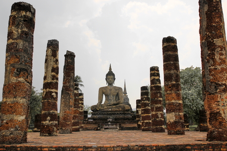 dhamma: buddhist statue in old structure of church