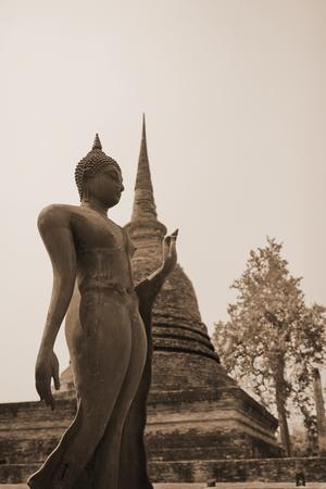dhamma: buddha statue in sukhothai Thailand