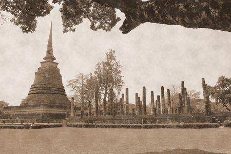 dhamma: ancient temple in sukhothai Thailand