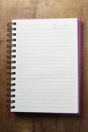 note book: background of blank note book