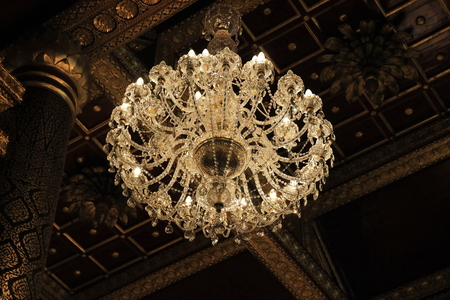 A Decorative Hanging Light With Branches For Several Light Bulbs ...