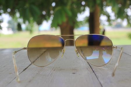 soft   focus: soft focus on sunglasses background