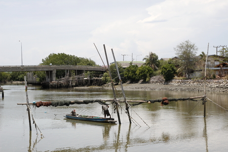 avocation: local fisher at Samutsakorn Thailand