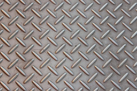 checker plate: background of steel checker plate Stock Photo