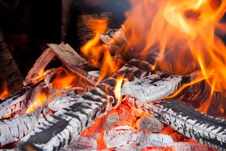 woodfire: Closed up the woodfire burning Stock Photo