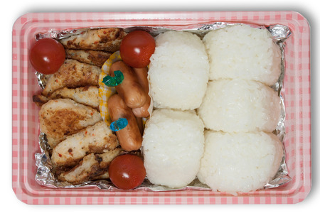boxed: homemade foods or obento for going to picnic