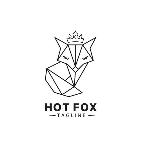 Geometry FOX logo vector. Stock Illustratie
