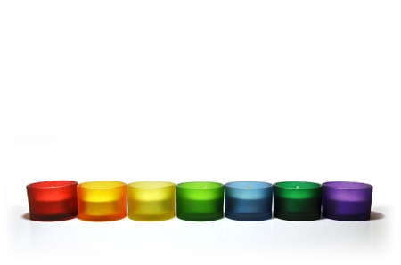 Colorful Candlestick-line