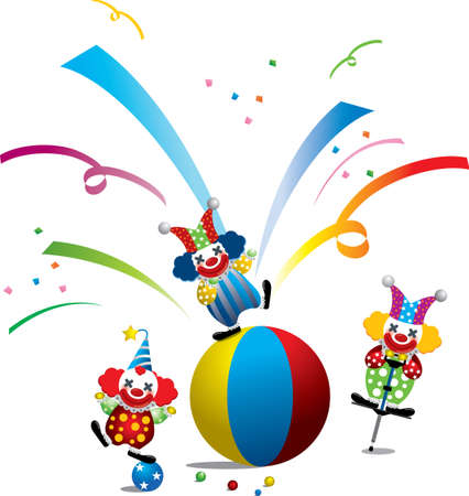 circus's clown Stock Vector - 8364020