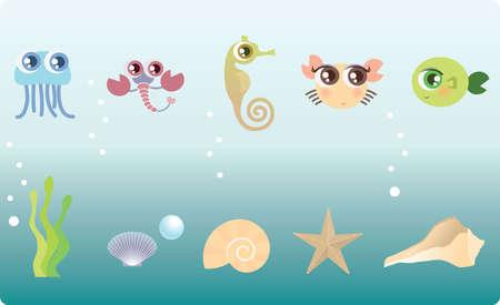 pearl shell: marine life