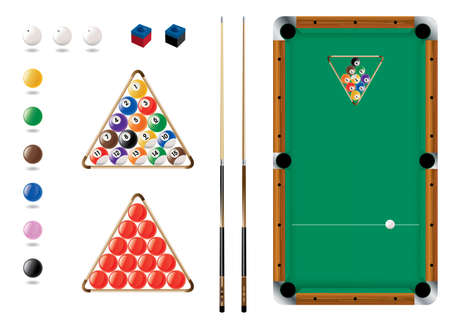 Snooker, Pool, sport icons Stock Vector - 9881882