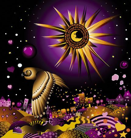 fish star: Un sue�o de ciudad, donde un shimy luna y un b�ho sabio, sembrando las semillas del amor