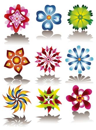 exoticism: FLOWER ICONS Illustration