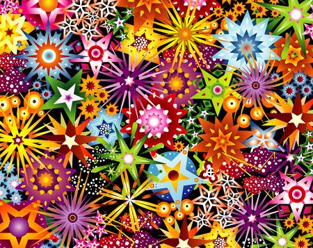 beautifull illustrated stars pattern Stock Vector - 3074500