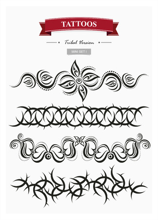 snake calligraphy: Tattoo set 1