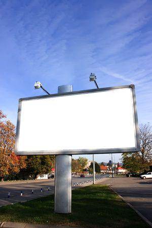 Blank Billboard On Field photo