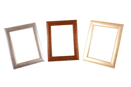 An Assortment Of Classic Picture Frames Isolated On White Stock ...