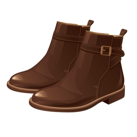 Boots with ankle strap