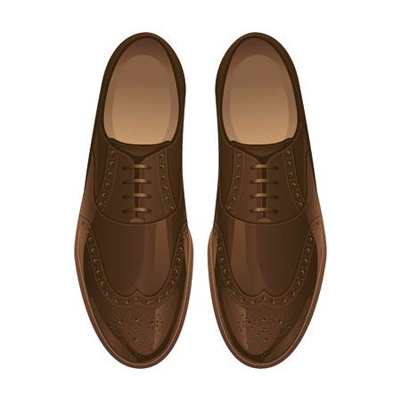 클래식 신발. 옥스포드 신발 일러스트