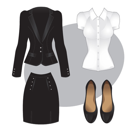 official wear: Office clothes. Clothes for women