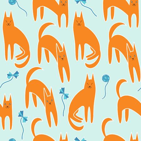 fanny: Pattern cartoon fanny cats with toys