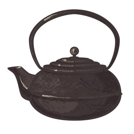 Ancient tea pot Ilustrace