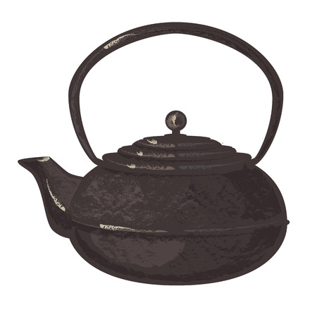 Ancient tea pot Stock Illustratie