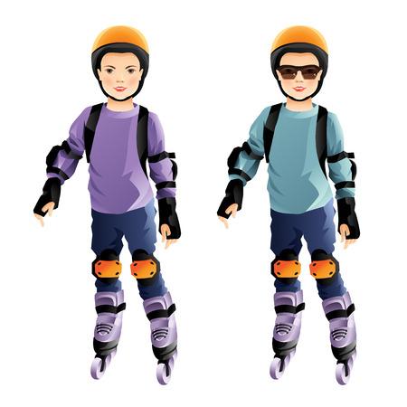 roller skating: roller skating children