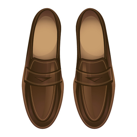 Loafers shoes. Casual footwear Stock Illustratie
