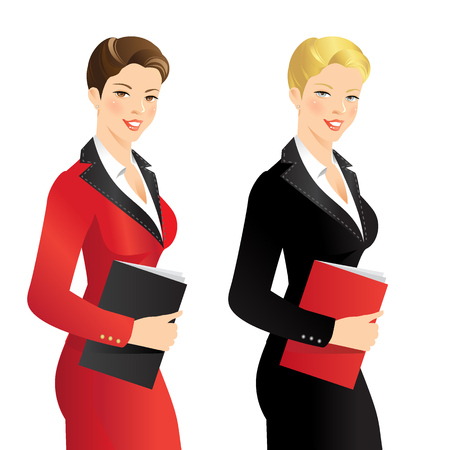 female lawyer: Business girl or professor in official suit