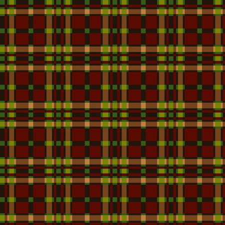 workmanship: Tartan pattern in autumn color Illustration