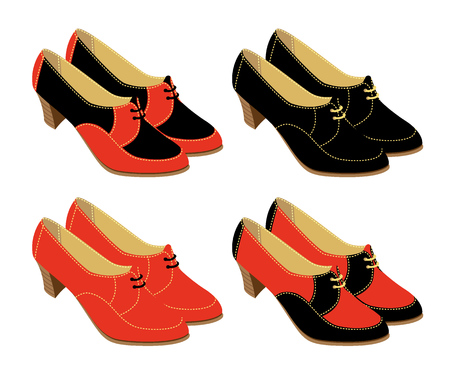 footgear: Set of shoes for women in various designs
