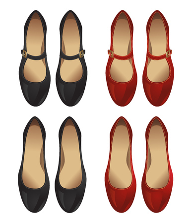 court shoes: Court shoes and shoe with strap across the instep