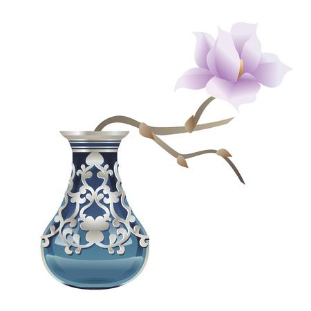 magnolia: Magnolia in vase